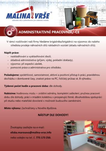 Administrativní pracovník/ce